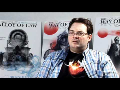 Brandon Sanderson talks about Alloy of Law and the Mistborn series (part 1)