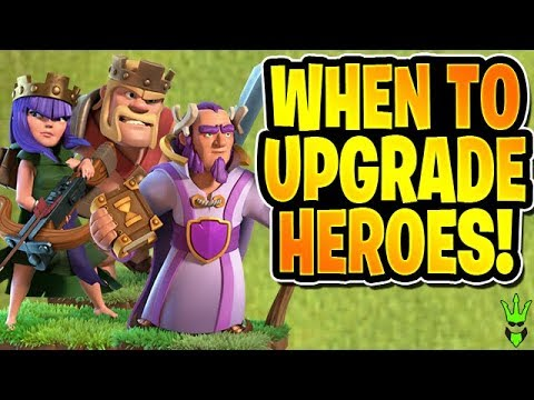 WHEN SHOULD YOU UPGRADE HEROES? - Hero Discussion - Clash Of Clans