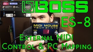 BOSS ES-8 External MIDI Control and PC Mapping