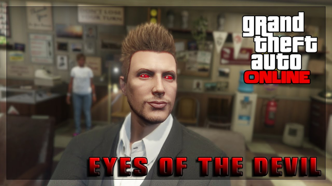 Gta V Online How To Change Your Eye Colour Devil Eyes