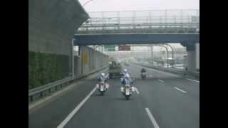 2013/03/29 京葉道路を走行する白バイ HONDA CB1300P & HONDA VFR800P ...