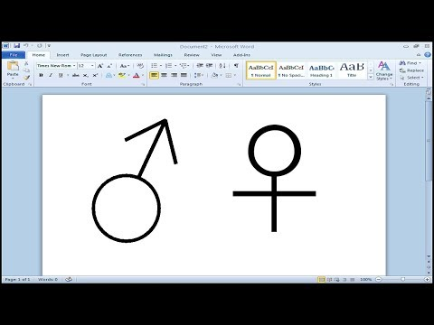 How to type male and female symbol in Microsoft Word