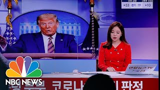 Watch: How Trump's Covid Diagnosis Was Reported Around The World | NBC News NOW