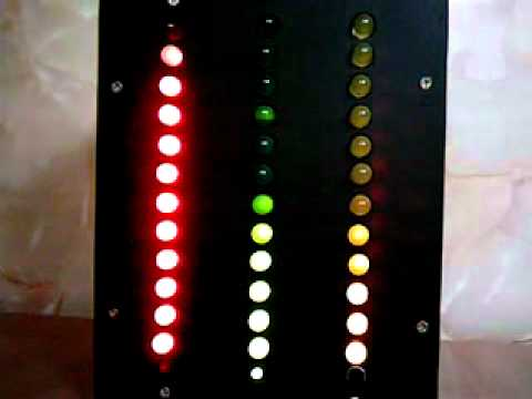Led color light organ with pic 16F628A