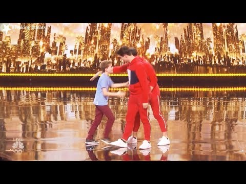 Results Quarter Finals  Merrick Hanna Mirror Image America's Got Talent 2017 Round 2