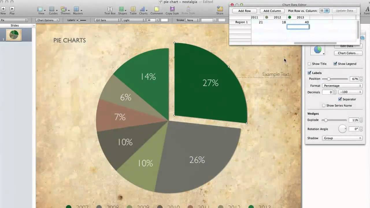 Drawing Lines In Keynote : Pie chart in keynote youtube