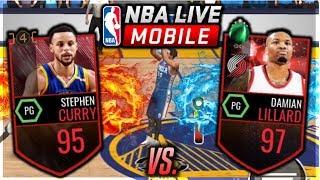 NBA LIVE MOBILE HALF-COURT CHALLENGE! 95 STEPH CURRY VS 97 DAMIAN LILLARD!