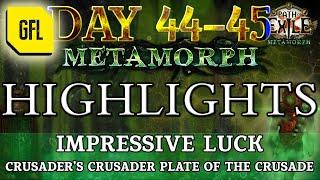 Path of Exile 3.9: METAMORPH DAY #44-45 Highlights CRUSADER'S CRUSADER PLATE OF THE CRUSADE