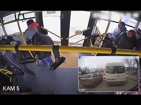 Автохам спровоцировал с автобусом в Волгограде