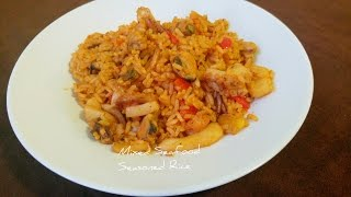 A Seafood Melody | Mixed Seafood Seasoned Rice| Calamari, Squid, Muscle, Shrimp, Octopus And More