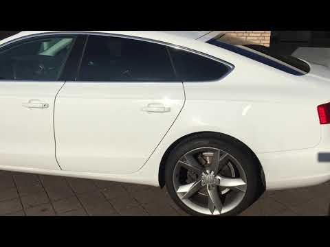 Autoramen blinderen Audi A5 met dot matrix weg werken