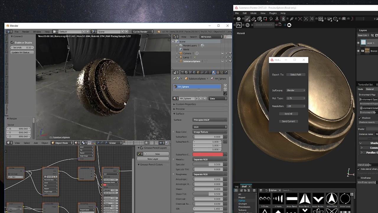 [Blender 3D] Substance Painter Live Link by Hedgehog Labs