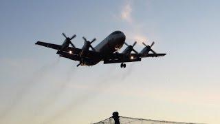 SONY XPERIAZ3 4K撮影【自衛隊機】P-3C輸送機 タッチ&ゴー訓練 下総飛行場