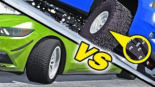 Studded Tires VS Stock Tires #1 - BeamNG Drive
