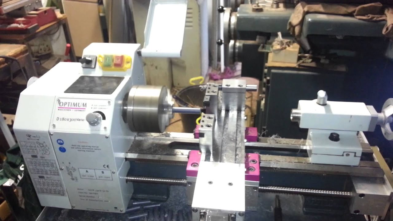 Cnc Converted Lathe Optimum Youtube