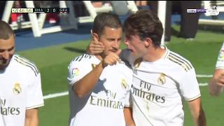 Eden Hazard First Goal For Real Madrid  Primer Gol de Eden Hazard con el Real Madrid