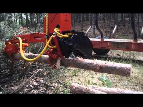 Naarva S23C stroke harvester in forestry trailer - S23C metsäkärryssä