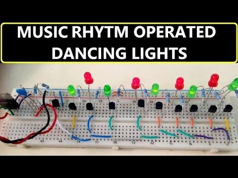 Music Rhythm Operated Dancing Light using LEDs & Transistors