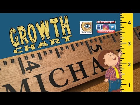 Making A Ruler Styled Children's Growth Chart And Full Size Template