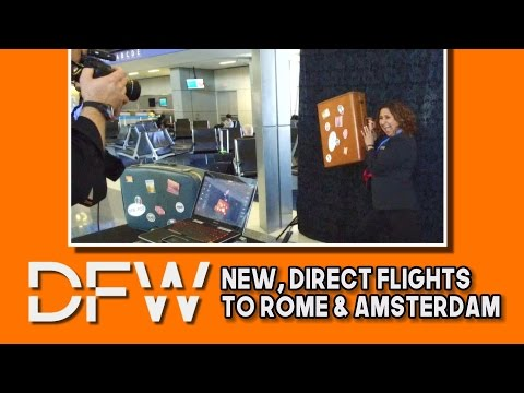 New, Direct Flights to Rome & Amsterdam