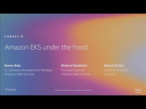 AWS re:Invent 2019: [REPEAT 1] Amazon EKS under the hood (CON421-R1)