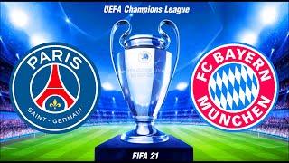 FIFA 21 | ปารีส VS บาเยิร์น | ยูฟ่า แชมเปียนส์ลีก รอบ 8 ทีม นัดที่ 2 !! มีสกอร์แบบ real-time