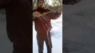 Рыбалка на косынку зимой.