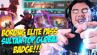 BORONG ELITEPASS BARU LANGSUNG JADI SULTAN TOP GLOBAL BADGE!! - FREE FIRE INDONESIA