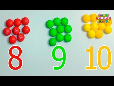 Learn To Count with M&Ms Skittles | Numbers, Counting and Colors for Children