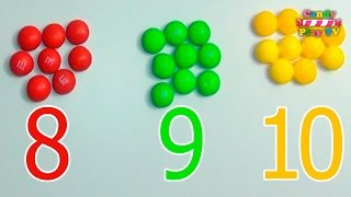 Learn To Count with M&Ms Skittles | Numbers, Counting and Colors for Children thumbnail