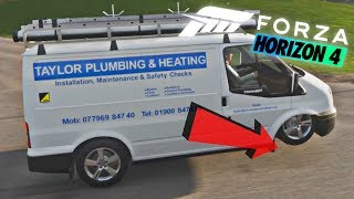 Forza Horzion 4 Flying Wheel Bounce Glitch (Ford Transit) How To Official Video (PC)