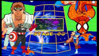 Marvel Super Heroes vs  Street Fighter (PSX) - Ryu/U.S. Agent Longplay
