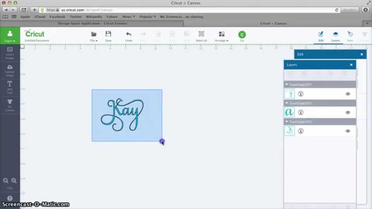 Using Samantha In Mac Cricut Design Space Youtube