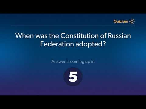 When was the Constitution of Russian Federation adopted?   Russia Quiz