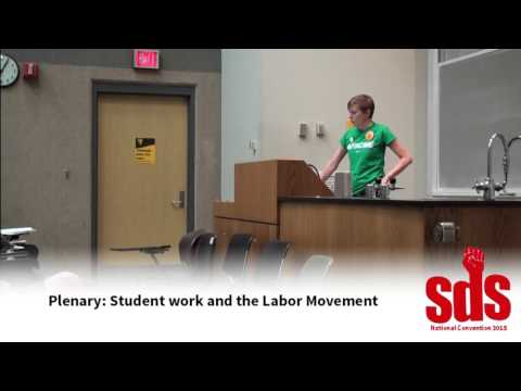 National SDS 2015: Plenary for Students