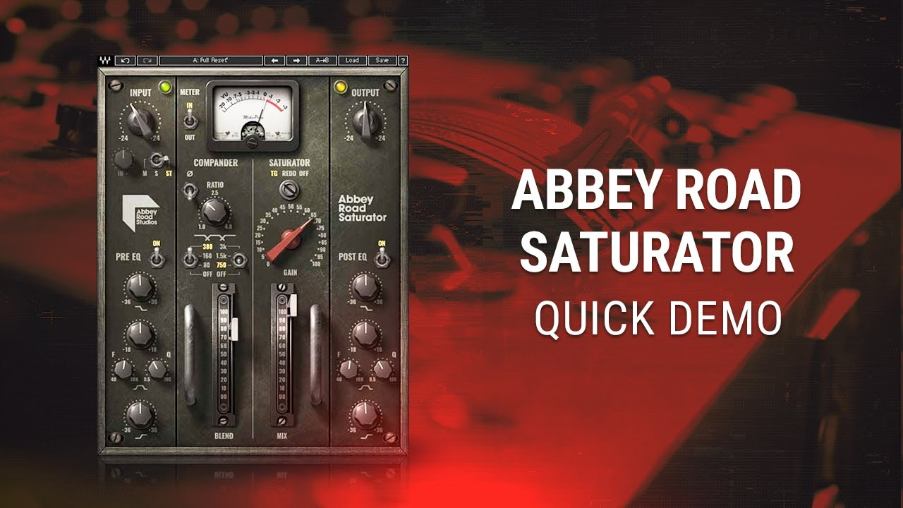 Waves Abbey Road Saturator Plugin Quick Demo Youtube