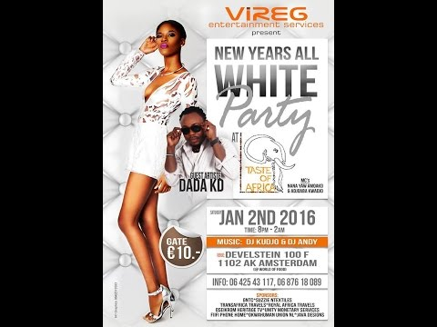 New Years Eve All White Party with Dada KD in Amsterdam