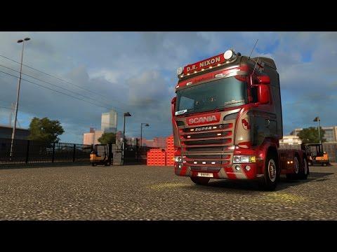 Euro Truck Simulator 2 - Scania R490 - D.R. Nixon Transport VTC - Drive along