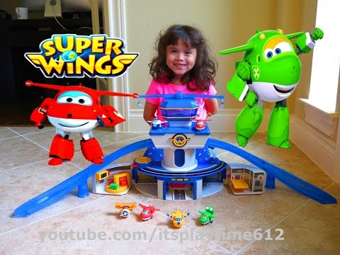 Thumbnail: SUPER WINGS WORLD AIRPORT w/ Transform-a-Bots Figures | itsplaytime612