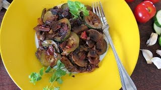 Sauteed Zucchini With Mushrooms -- The Frugal Chef