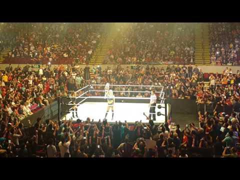 WWE Live in Manila - Charlotte vs Sasha Banks Entrance