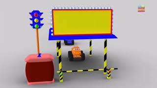 Фото Обучающие мультики про машинки. Мультики про машинки. Учим цвета. Мультики английский.