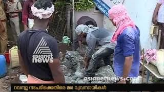 Revenue department start action against encroachment  in Kozhikode Kallayi river