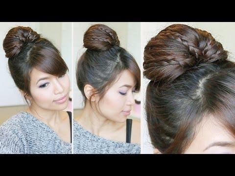 Video Of The Week: Braided Bun Updo and Messy Side Bun Hair Tutorial