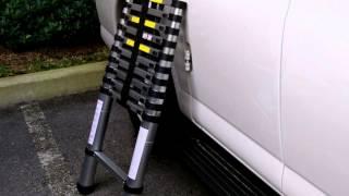 3.2M 10.5 FT Multi-Purpose Double Sided Folding Telescopic Aluminium Ladder A Frame Shape Ladder Multi purpose functional ladder
