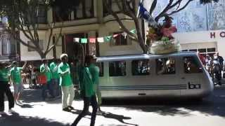 San Francisco Carnaval Grand Parade 2014 Zorro & Bay Area Rapid Transit BART Mobile