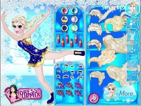 Disney frozens elsa ice skating dress up game youtube voltagebd Gallery