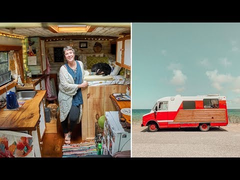 mother-+-daughter-live-full-time-in-custom-diy-van-converted-from-a-fire-department-step-van.