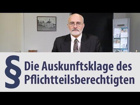 Auskunftsklage | Pflichtteil | Heidelberg | Rechtsanwalt