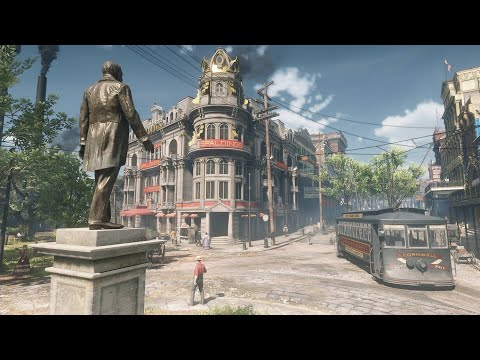 Red Dead Redemption 2: 10 Mins in Saint Denis. Freeroam with no commentary